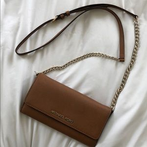 Michael Kors saffiano leather wallet, crossbody